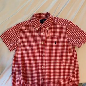 Boys Polo by RL size 5 short sleeve button down.